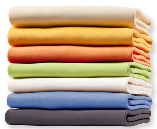 Spannbettlaken Jersey farbig 95°C