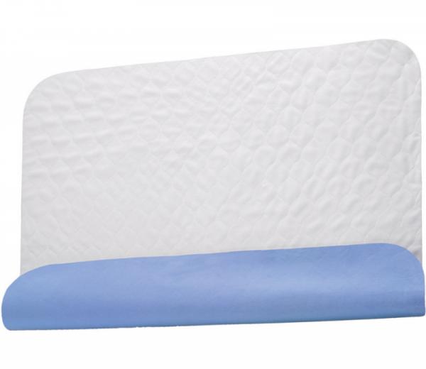 PFLEGE-POINT® Inkontinenz-Mehrwegunterlage Betteinlage blau-weiß 75 x 85 cm