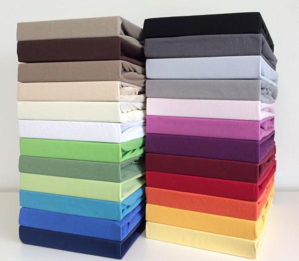 Spannbettlaken Mako-Feinjersey farbig 60°C